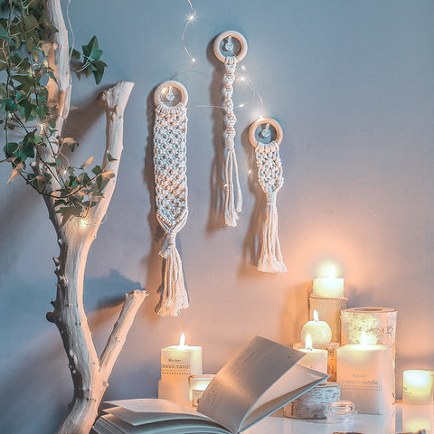 nordic small dreamcatcher mini tapestry dorm room macrame curtain home decoration accessories farmhouse decor