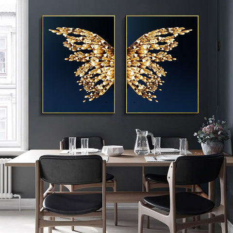 Butterfly Wings Abstract Canvas Poster Scandinavian Wall Art Poster Print Minimalist Nordic Decoration Picture Living Room Decor