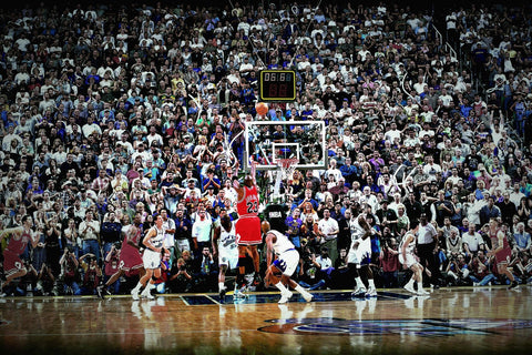 Jordan Classic Buzzer Beater (1998 Chicago Bulls) Jordan Classic Poster Decorative Painting Sports Poster Wall Art Room Decor