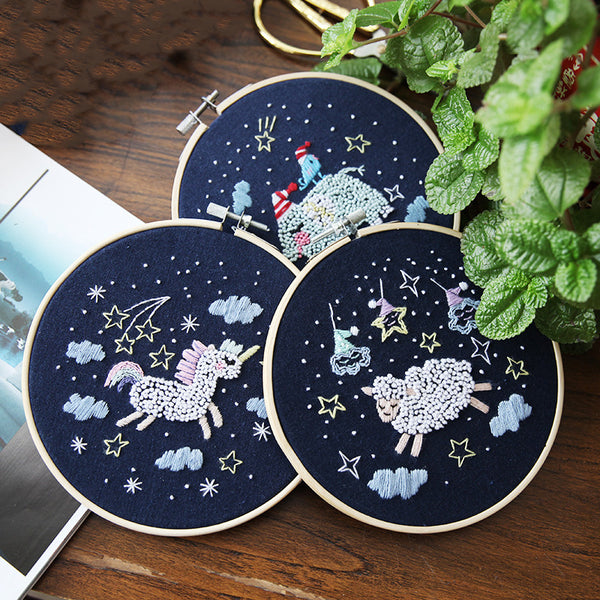 Cartoon DIY Embroidered Accessories Kit Star Series Embroidery Materials Package