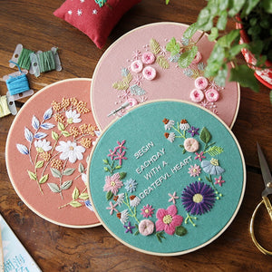 Stereoscopic Embroidered Flowers Material Package Embroidery Accessories DIY