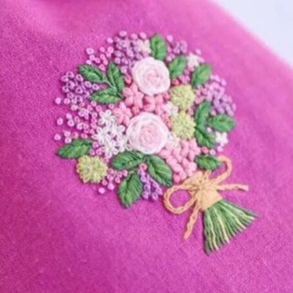 Flowers Pattern Embroidery Novice Embroidered Material Package European DIY Handcraft Beginner Cross Stitch Accessories