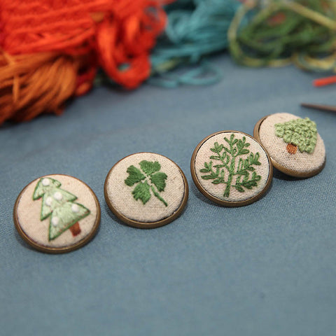 DIY Handcraft Embroidery Material Package Collar Badge Making Embroidered