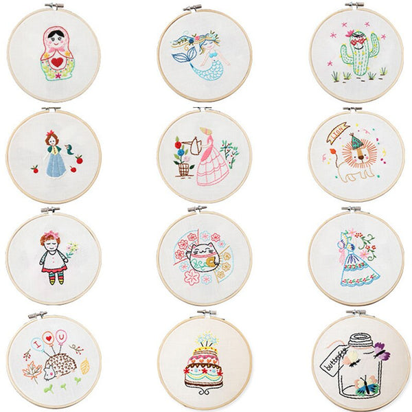 Embroidery Material Package DIY Handcraft Embroidered Material Handmade Kit