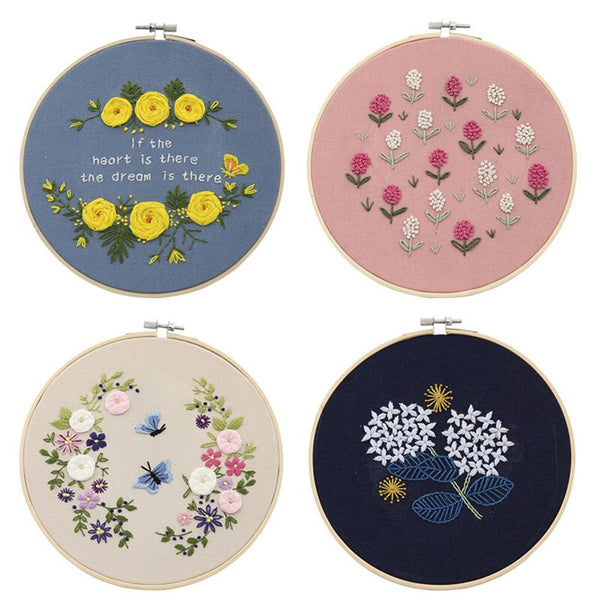 Handcraft Embroidery Material Package Flowers Cross Stitch Needlework Kits