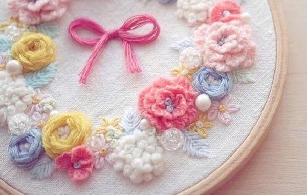 Embroidery Materials Package Flowers Cross Stitch Needlework Sewing Decor