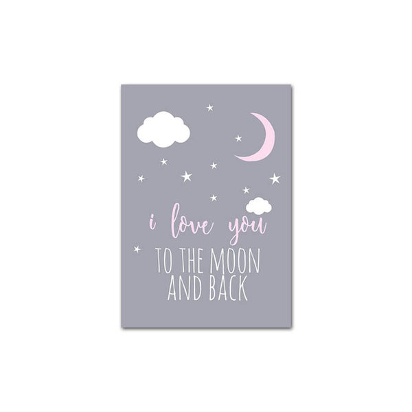 Unicorn Canvas Poster Baby Girl Nursery Quotes Wall Art Print