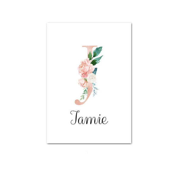 Baby Name Custom Poster Nursery Letter Canvas Print Wall Art