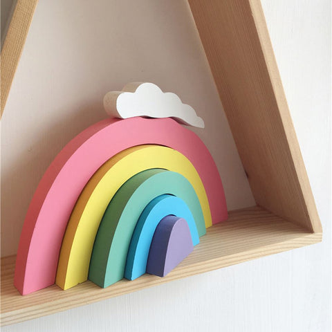 Kids Room Wooden Rainbow Decorative