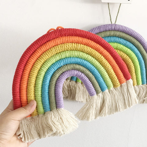 Rainbow Cloud Hanging Decor Scandinavian Handmade Hanging Wall Decor