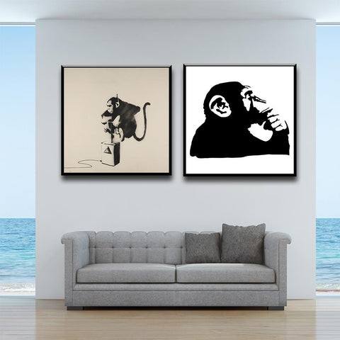 Abstract Monkey Canvas Painting Posters And Prints