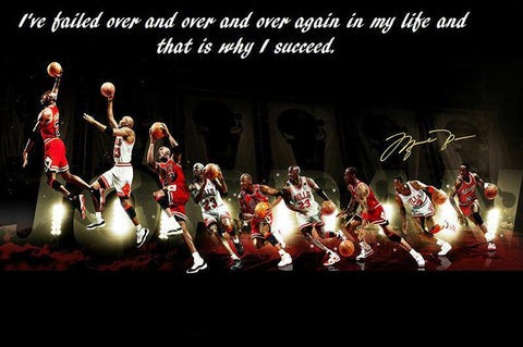 Michael Jordan Motivational Quotes Art Film Print Silk Poster Home Wall Decor 24x36inch