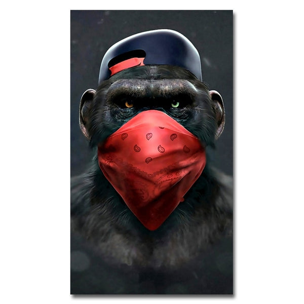 Funny Monkey Wall Poster for Living Room Home Decor No Frame