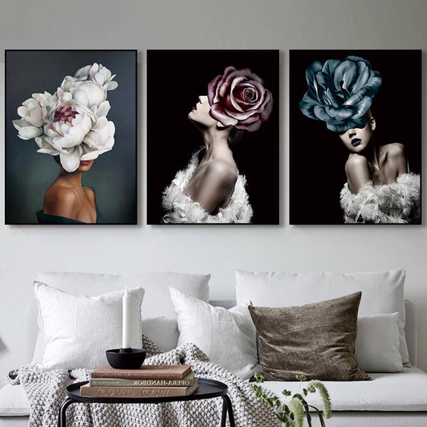 flower lady wall art