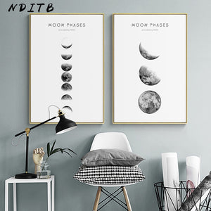 Moon Art Canvas Posters and Prints