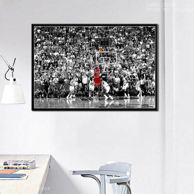 J204 Michael Jordan Classic Buzzer Beater 1998 The Shot Gift Wall Art Decor Painting Poster Prints Canvas