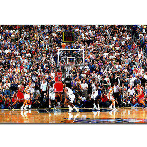S2025 Michael Jordan Shoting Buzzer Beater Basketball MVP Player Wall Art Painting Print On Silk Canvas Poster Home Decoration