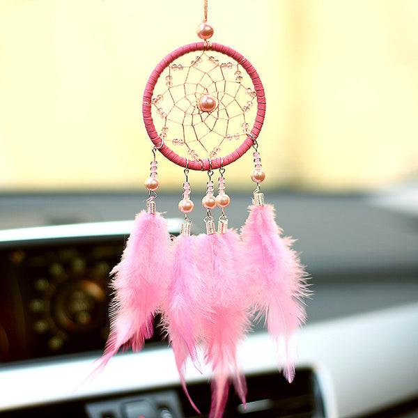 white room decoration wedding gifts  for guests nordic dream catcher  white  pink dreamcatcher kids room decoration party gift