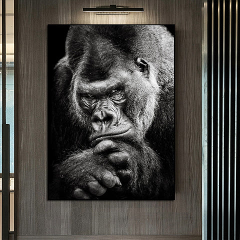 Black Gorilla Art Canvas Painting