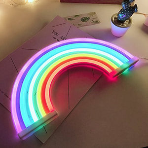 BIFI-Cute Rainbow Neon Sign,LED Rainbow Light/Lamp for Dorm Decor,Rainbow Decor Neon Lamps,Wall Decor for Girls Bedroom