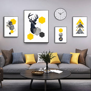 Abstract Deer Poster Canvas Printings Printing