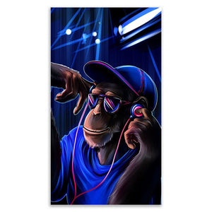Monkey Music Canvas Painting