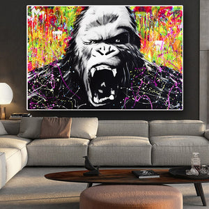 Monkey Gorilla Canvas Art Painting Posters and Prints