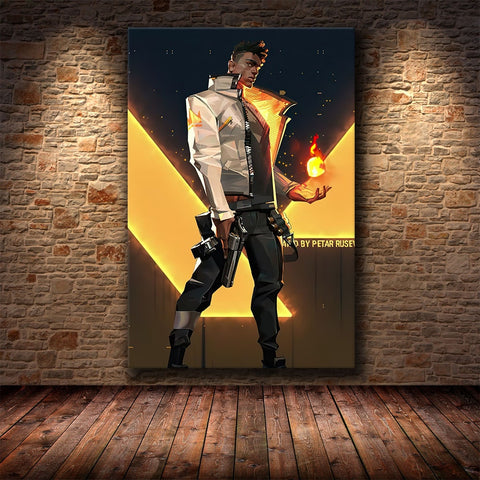 The Game Poster Decoration Painting of valorant on HD Canvas Canvas Painting Art Posters and Prints Cuadros Decor