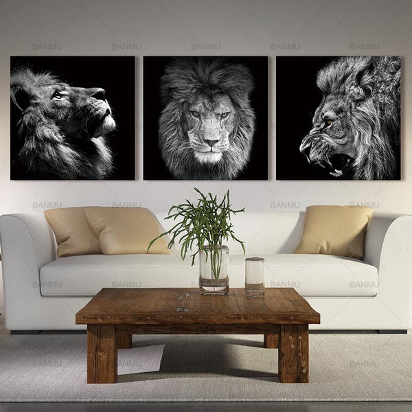 Lion Art on Canvas Print