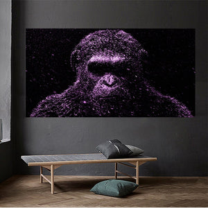 Monkey Gorilla Painting  Canvas Posters and Prints