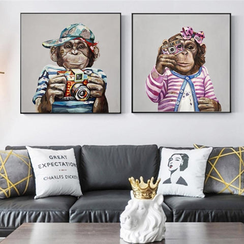 Painting by Monkey Money Wall Art Posters And Prints