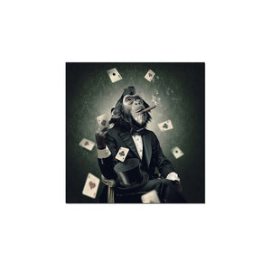 Smoking poker monkey painting wall art canvas painting