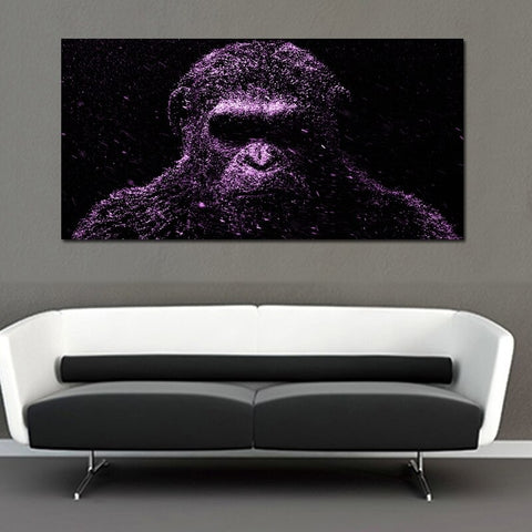 painting by Wild gorilla Canvas Painting Posters