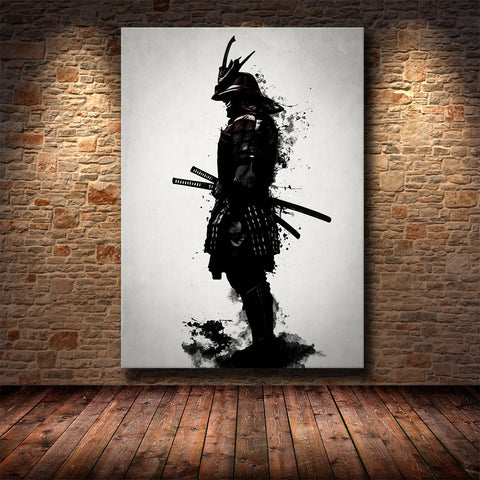 Wall Artwork Painting Home Decoration Armored Samurai Japan Anime Canvas Prints Pictures Modular Nordic Poster For Living Room