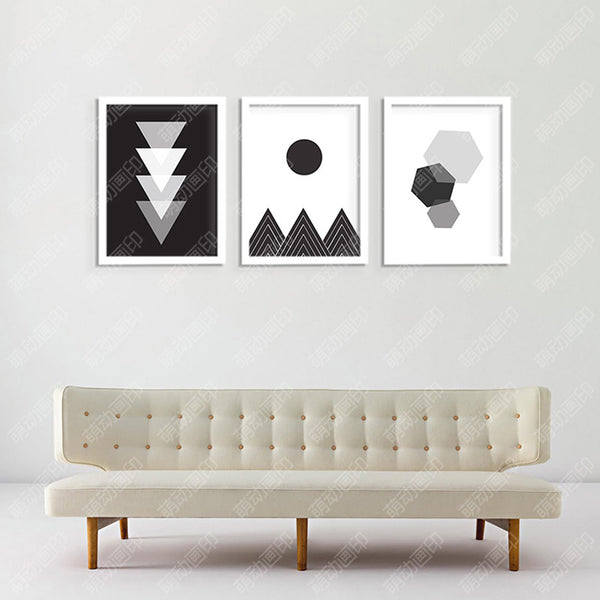 Cuadros Decoracion Home Abstract Geometry Wall Pictures For Living Room Wall Art Canvas Painting Nordic Poster Unframed