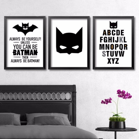 Superhero Batman Canvas Painting A4 Art Print Poster Always Be Yourself