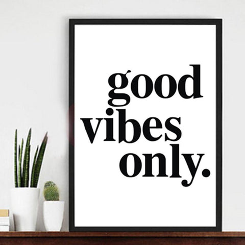 good vibes only Posters decorative wall painting Canvas Art Print Wall Pictures Home Decoration Frame not include v106