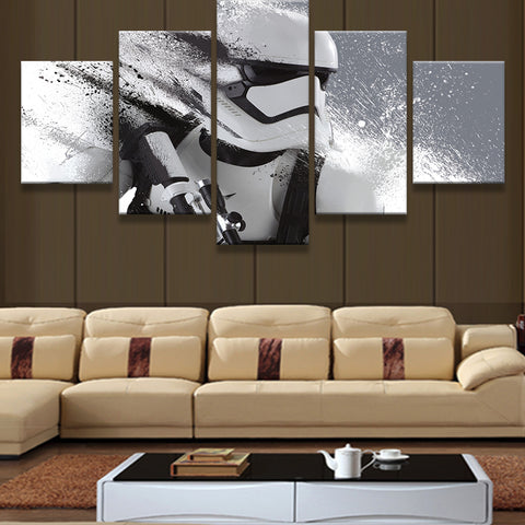 5 Pieces Star Wars Modular Printed Modern Prints Home Decor For Living Room Painting On Canvas Wall Art Picture Framed
