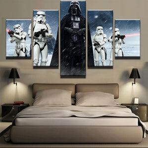 5 Pieces Star Wars Black Knight Imperial Stormtrooper Modern Home Wall Decor Canvas Picture Art HD Print Painting Canvas Art