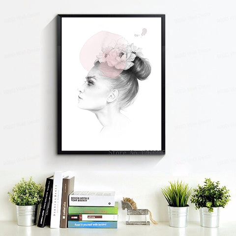 Posters And Prints Wall Art Canvas Painting Wall Pictures For Living Room Nordic Decoration New Beautiful Girl No Poster Frame