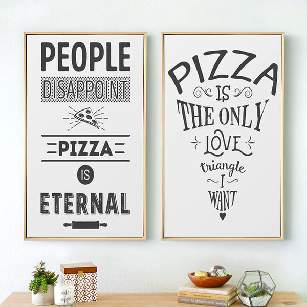 Elegant Poetry English Phrase Pizza A4 Canvas Painting Art Print Poster Picture Wall Paintings Modern Bedside Painting Decoratio