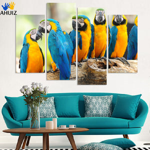 4PCS/SET Flying Bird Canvas Painting Poster, Wall Pictures For Home Decoration, no frame Wholesale