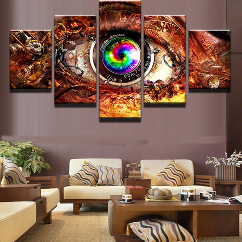5 Pieces Movie Game Steam Punk Eye Wall Art Picture Home Decoration Living Room Canvas Print Wall Picture Printing On Canvas