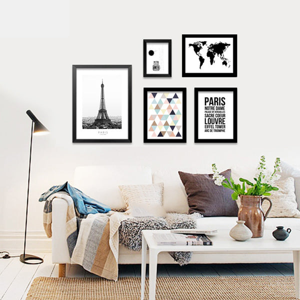 Posters And Prints Wall Pictures For Living Room Cuadros Wall Art Canvas Painting Modern Nordic Decoration Pairs No Poster Frame