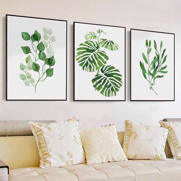 Canvas Art Print Poster canvas painting Wall Pictures Watercolor Tropical Leaf for Home Decoration  Giclee Wall art Decor home