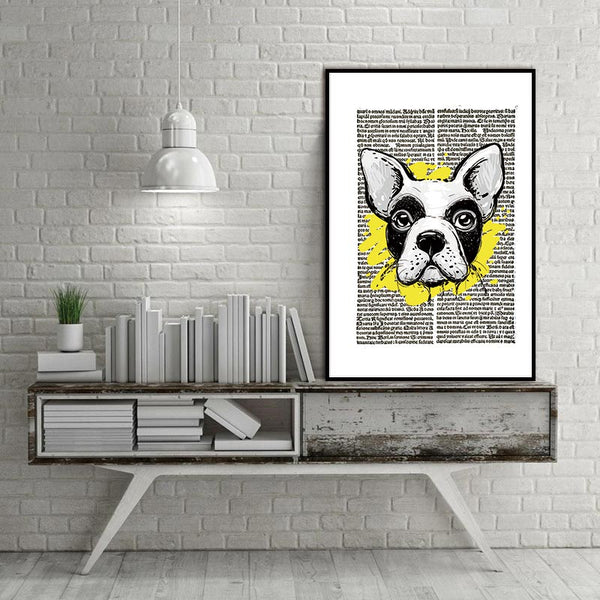 Canvas Art Pet Dogs Prints Nursery Baby Bedroom Animated Wall Pictures Painting Home Decor Kids Living Room (No Frame)