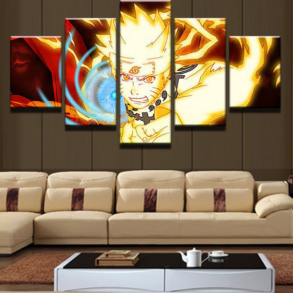 5 Panels Modular Picture Naruto Painting Canvas Wall Art Pictures Home Decoration Living Room Canvas Printing Modern Painting