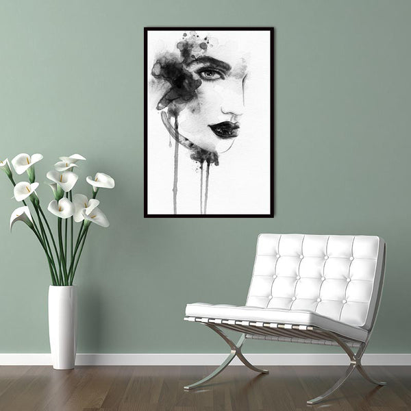 Poster Wall Picture Canvas Painting Modern Nordic Art Print on Black White Girl Minimalist Typography  Quotes wall  Home Decor