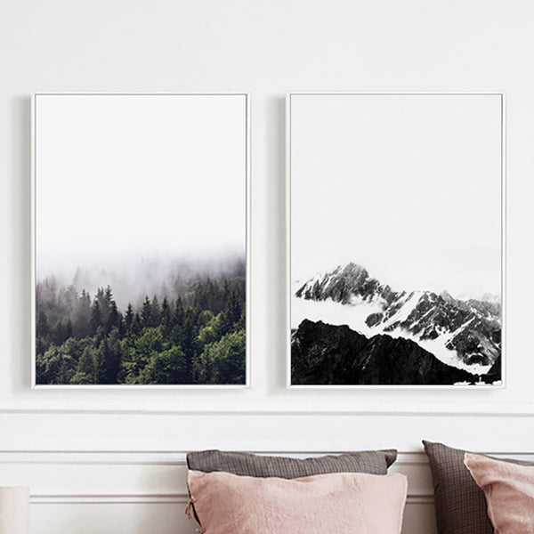 Wall Art Canvas Painting Landscape Mountain Picture Forest Paintings Wall Pictures For Living Room Nordic Poster Unframed