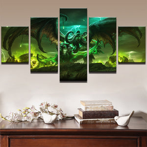 Modular Pictures HD Print Frame Poster 5 Pieces Game World Of Warcraft Character Painting Wall Art Living Room Home Decor PENGDA